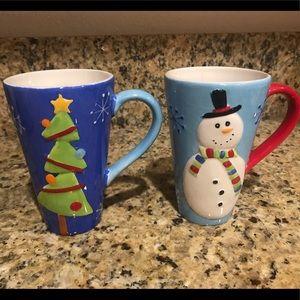 Ceramic Holiday/Winter Mug Set